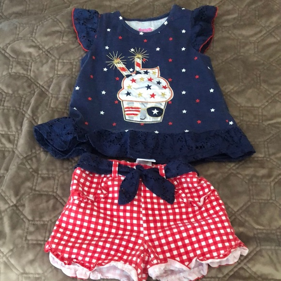 Nannette kids 4th of July outfit